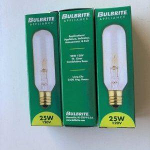 AC-25 Watt Clear Light Bulbs(3 Pack)
