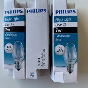 AC-7 or 25 Watt Clear Light Bulbs(3 Pack)