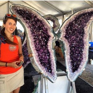 Geology Wonders Shares Giant Amethyst Butterfly Photo