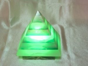 Green Chromotherapy Lamp