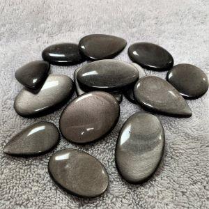 GC-Silver Sheen Obsidian 25-40mm
