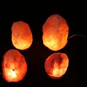 GP4-2 Natural Salt Lamps (SM) + 1 Natural Salt Lamp (MED) +1 Natural Salt Lamp (LG)