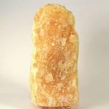 Orange Calcite Lamp