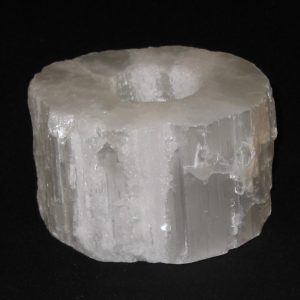 SC-Smooth-Top Selenite Candle