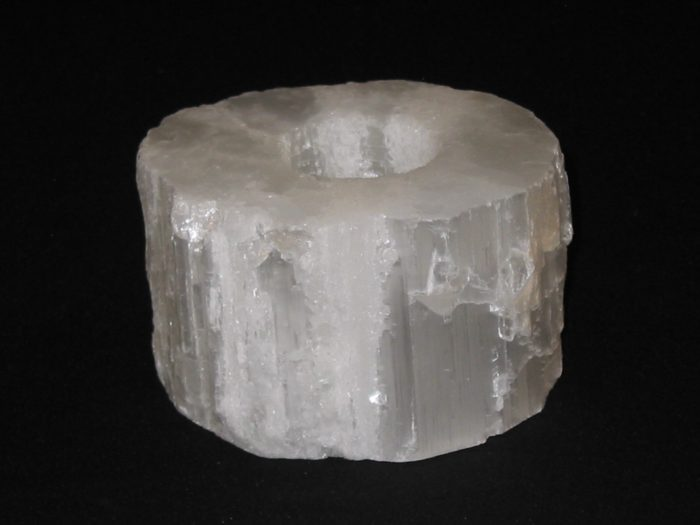 Smooth Top Selenite Candle