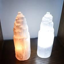 SL-Selenite Lamp w/Natural Base (LG)